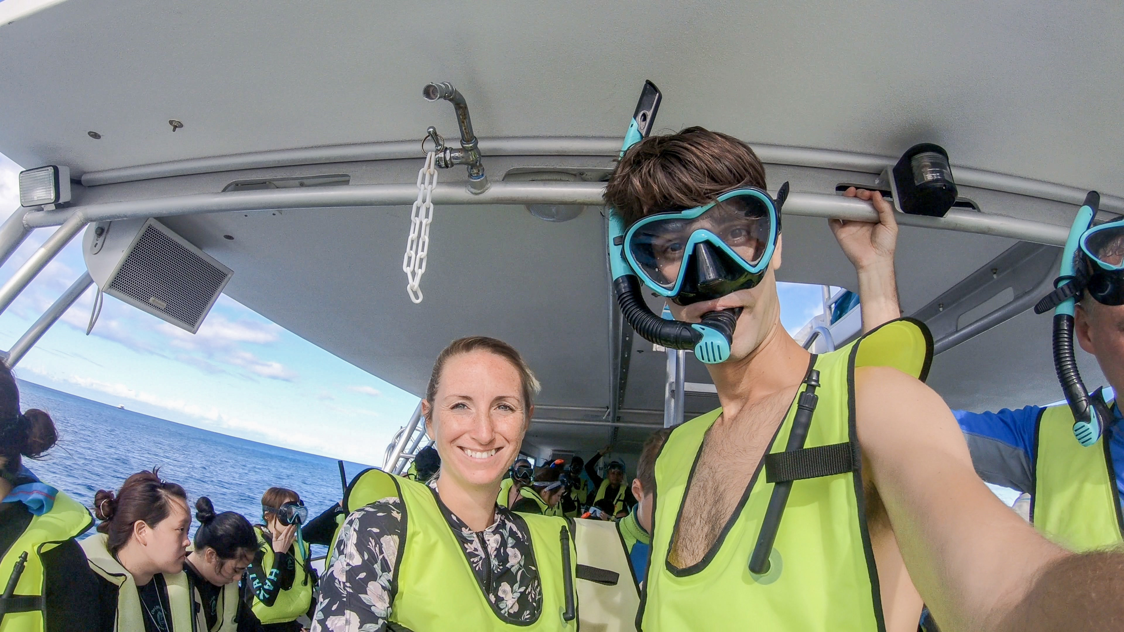 Geared up and ready to Snorkel with Dolphins